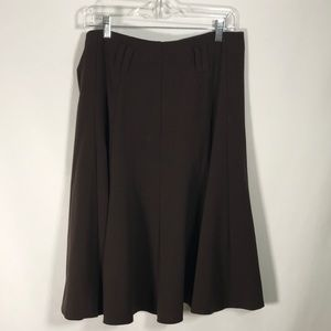 🏖3 for $20 Dress Barn Brown A Line Skirt Size 12